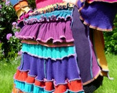 Pixie Carnival - Gypsy Pixie Bustle coat from recycled reconstructed sweaters - RESERVED