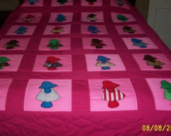 Little Dutch Girl Twin Quilt