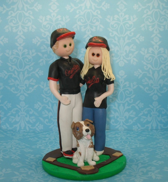 wedding cake toppers baseball theme items similar to baseball theme wedding cake topper custom 26390