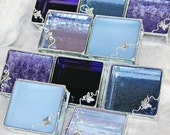 Bridal Attendants Gifts Stained Glass Jewelry Boxes Set of 10 - Custom Made To Order Bridesmaid Gift Idea Purple Lavender