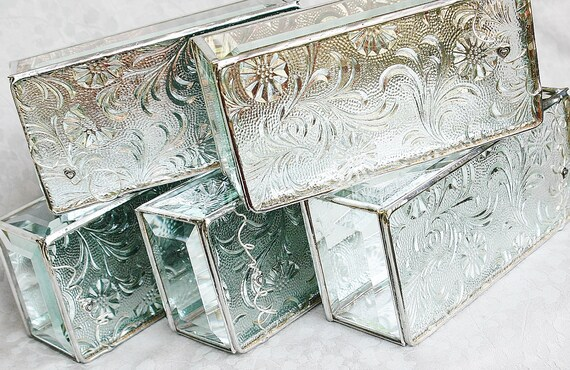 RESERVED FOR KATHY Shipping Balance -- Bridal Attendants Gifts Stained Glass Jewelry Boxes
