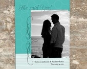 Tiffany Engagement CARD 5x7 - Announcement Digital Photoshop Templates for Photographers