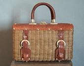 60s Vintage Basket Hand Bag