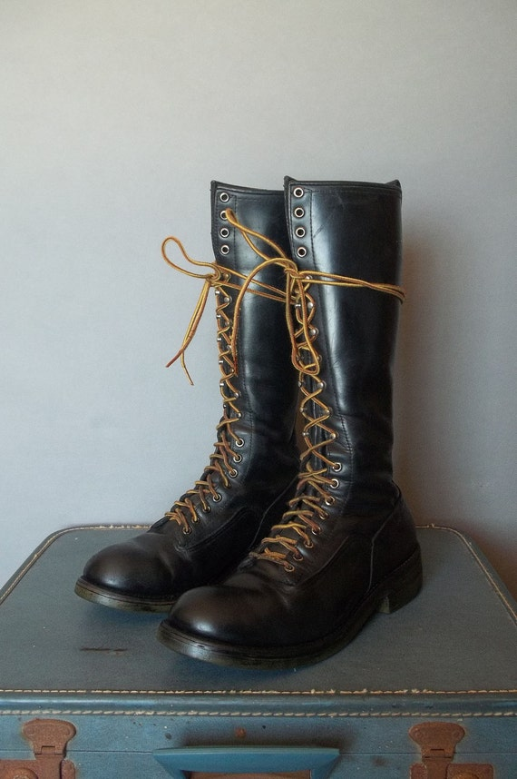 MENS Vintage RED WING Lineman Boots.  Men size 10.5 (44.5 Euro)