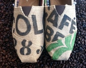 Custom TOMS - Burlap, Coffee bag design
