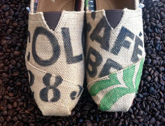 Custom TOMS - Burlap, Coffee bag design