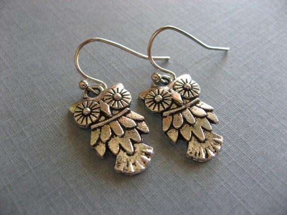 Cute Little Owl Earrings