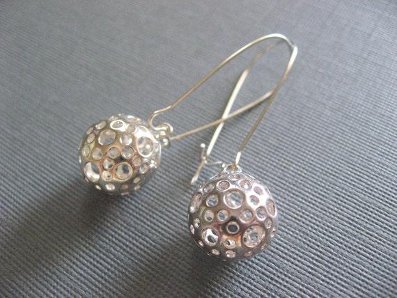 Little Silver Ball Earrings