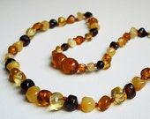 Baroque Natural  Baltic Amber Teething Necklace for your  Baby. Pain relief effective.