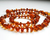 Honey  rounded  Baltic  Amber  Baby Teething Necklace . Pain Relief effective.