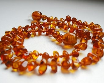 Natural  Baltic Amber Baby Teething Necklace.
