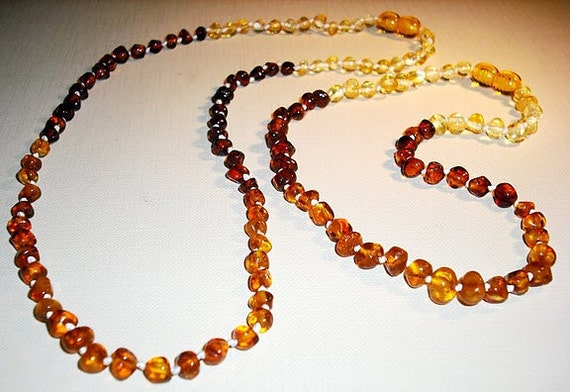 Baltic Amber  Baby  Teething Necklace   and similar remedy necklace for Mommy.