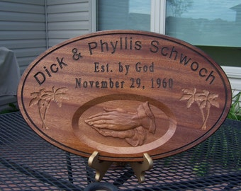 10x16 Oval Personalized Family Name Sign