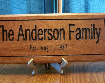 7 x 18 Personalized Family name sign personalized just for you.