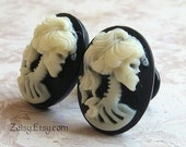 Zombie Cameo Plugs for Gauged Ears Sizes 0 2 4 6 8 Available