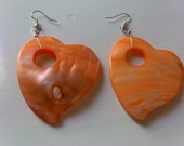summer orange hearts/ summer /  ready to ship/ Free shipping for European Union
