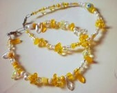 lovely yellow bracelets / set of 2 (free combined shipping)