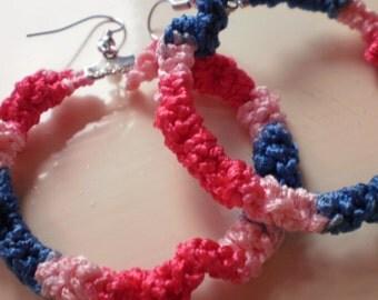 Funky / hippie crochet earrings