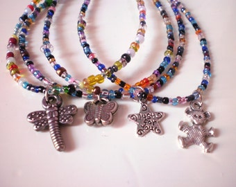 colorful charm  bracelets / set of 4 (free combined shipping)