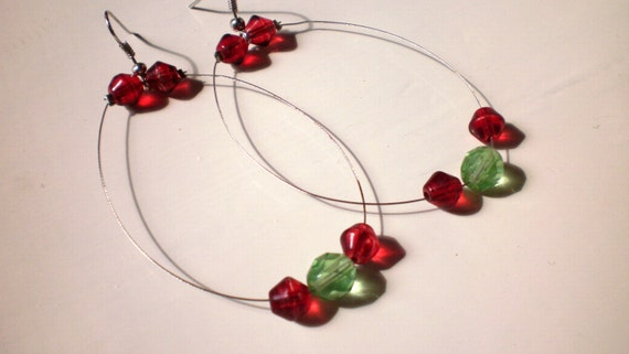 dangle hoops  FREE COMBINED SHIPPING