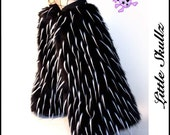 Black with UV White Spikes Furry Boot Covers Leg Warmers Rave Fluffies