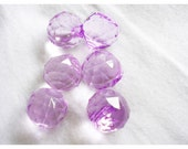 16mm lilac lucite acrylic large drop beads (6)