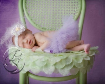 Newborn Lavender Tutu - Ready To Ship
