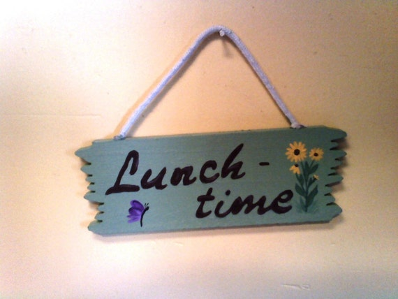 Lunchtime Sign