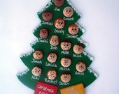 Personalized Christmas Ornament Up to 12 faces