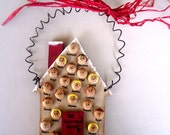 Personalized Christmas Ornament  - House Up to 12 faces