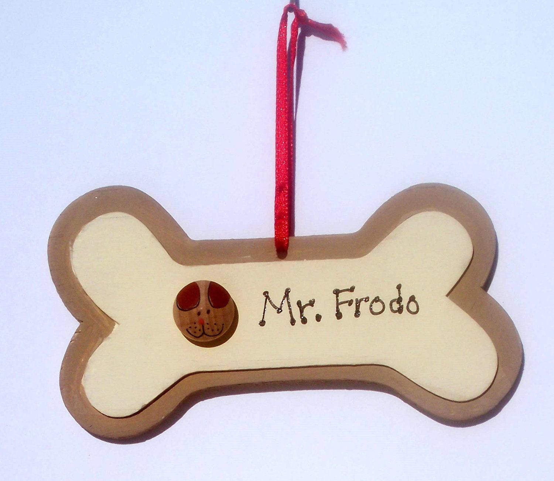 Personalized dog bone christmas ornament for Dog bone ornaments craft