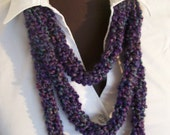 Purple Skinny Scarf - Lots of Colors - Purple, Pink, Blue and Gray
