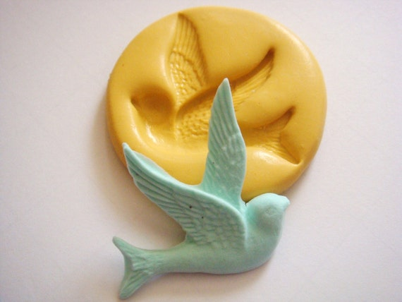 Big Bird Mold (40mm x 40mm) Flexible Mold/Mould for Crafts, Jewelry, Scrapbooking, Sweet Dessert and Miniature Food (wax, soap, resin, paper, pmc, plaster, epoxy, polymer clay, Sculpey III, Fimo and Premo