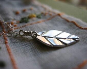 Mint Leaf Sterling Silver Necklace