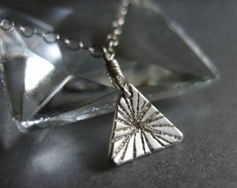 Tiny Burst Triangle Sterling Silver Necklace