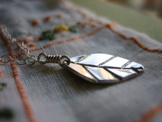 Mint Leaf Sterling Silver Necklace