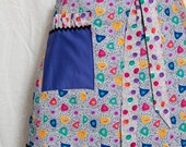 purple Pollack inspired Spring apron