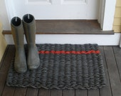Maine Rope Mats  (charcoal and red)