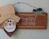 Bountiful Harvest Scarecrow Sign