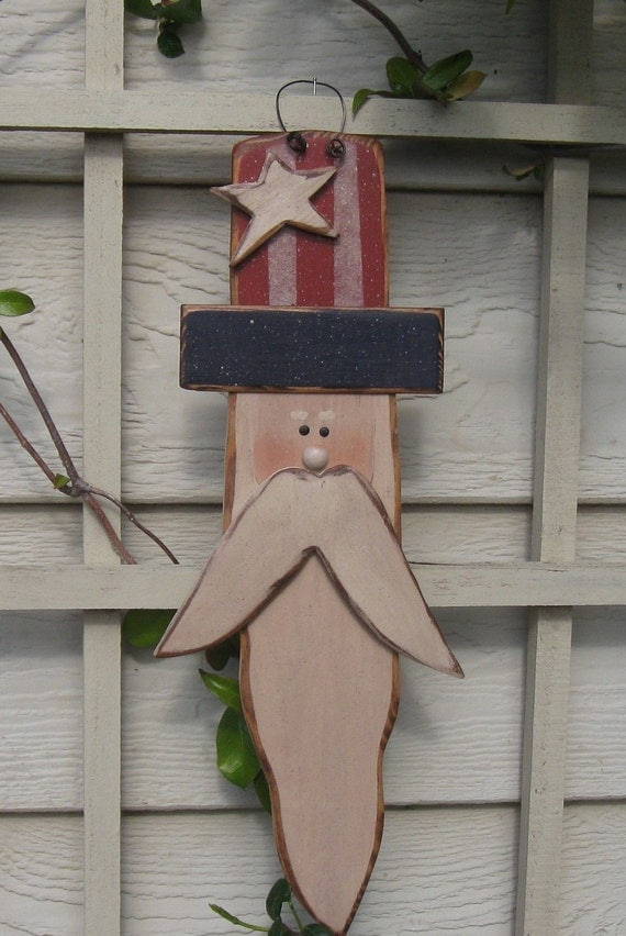 wood crafting ideas items similar to summer decor primitive sam on etsy 3253