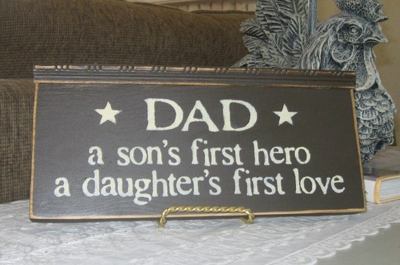 Download Items similar to Home Decor-Dad A Son's First Hero A ...