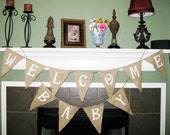 Baby shower banner, baby shower burlap banner, baby shower decoration, baby shower decor, baby banner, baby bunting, baby shower bunting
