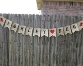 Custom Burlap Banner Bunting Garland with 12 flags - Perfect party decorations - Personalized Custom Orders Welcome