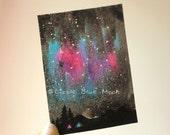 ACEO Original - Aurora Borealis - Northern Lights - Nightscapes 07