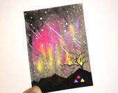 Aurora ACEO - Aurora Borealis - Colourful Northern Lights - Nightscapes 19 - night art