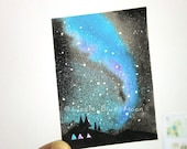 Original Aurora Art - Aurora Australis - Southern Lights - Nightscapes 23 - Stars Art, Night Art