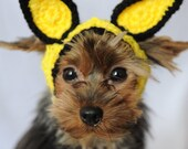 Knit Headband - Yellow Cat or Rabbit Ears for Dogs