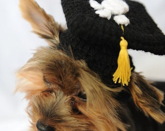 Black Graduation Cap for Dogs 2017