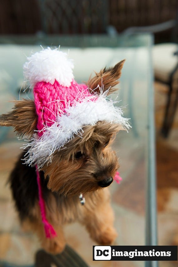 Dog Hat for the winter - Hot Pink
