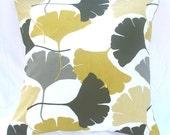 GINKO MUSTARD - Decorative Cushion Cover - 18 x 18 Inches